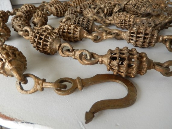 vintage lamp chain hanging lamp chain decorative chain industrial chain brass lamp - Decorative Chain