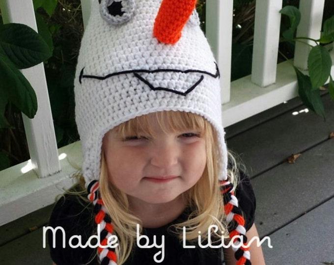 PATTERN-Snowman Earflap Beanie- Pattern