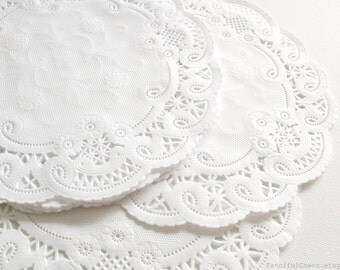 100 White Paper Doily Doilies 8 inch