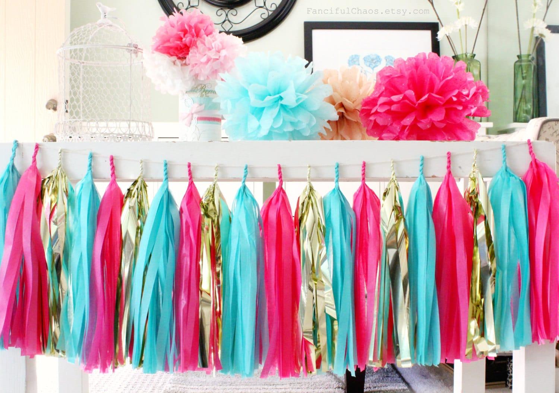 Turquoise And White Wedding Decorations Turquoise Tissue Etsy