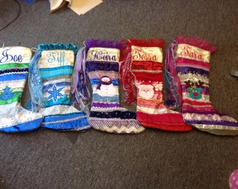 Great custom Christmas stockings fully lined