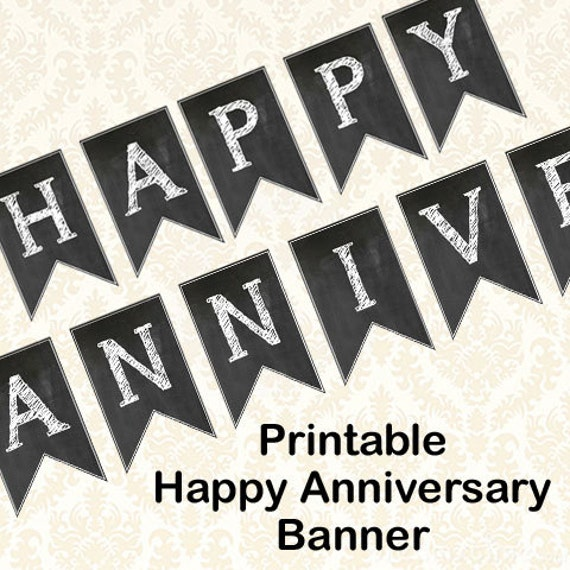 Anniversary Banner Printable Happy Anniversary Banner Diy