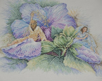 Finished / Completed Cross Stitch - Lanarte -  Maria van Scharrenburg Hibiscus (23022)