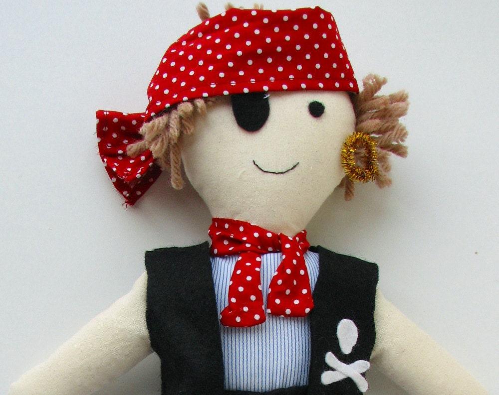 Pirate doll pattern Rag Doll PatternSoft Doll pattern