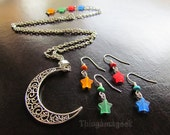 Guardians of the Planet - Sailor Moon Inspired Earrings and Necklace