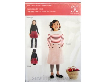 Japanese child sewing pattern - skirt - K012 by K Patterns