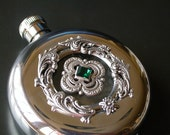 Luxury Round Flask Window Liquor Hip Flask Bridesmaid Gift  Women Victorian Flask - Vintage Style Accessories