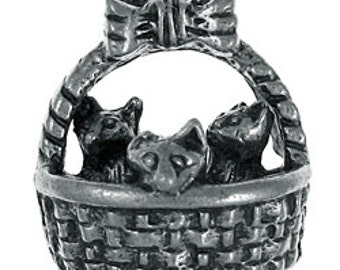 Kittens in a Basket Lapel Pin - CC275