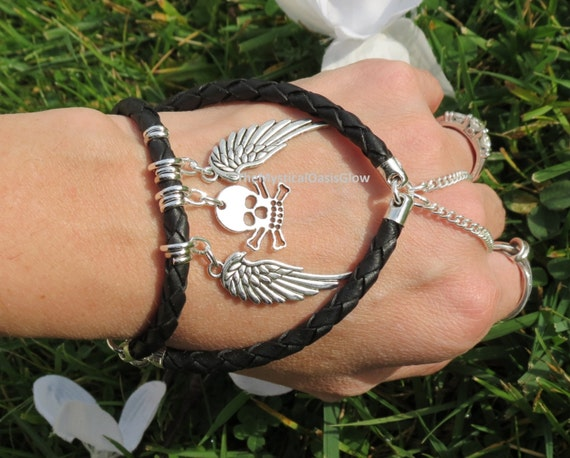 Items similar to leather charm bracelet jewelry for Ride or die jewelry