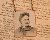 Black History jewelry Fannie Barrier Williams African American mixed media jewelry
