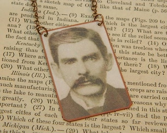 Doc Holiday necklace Western jewelry mixed media jewelry