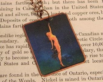 Maxfield Parrish jewelry art necklace mixed media jewelry