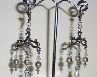Chandelier Renaissance inspired earrings