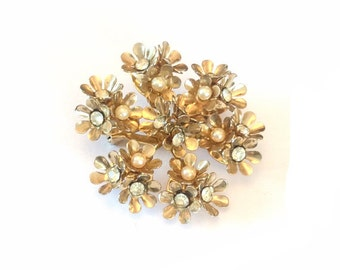 Coro Brooch Pearl Brooch 1940s Vintage Jewelry, Gift for Her SPRING SALE