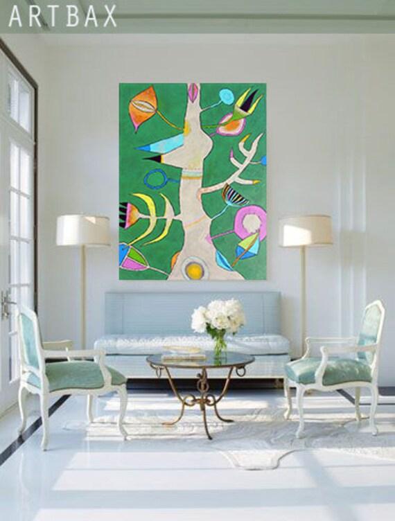Abstract Art ORIGINAL Oil Painting - BERESA (BIRCH) - palette knife original painting oil on canvas