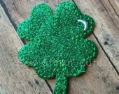 Embroidered St. Patrick's Day Shamrock Headband Slider