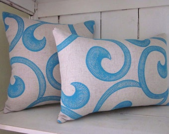 Turquoise pillows, beach decor, rustic pillow, decorative pillow, ocean decor,  farmhouse decor, beach pillow, accent pillows