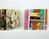 simpsons comics recycled wallet, comics wallet, gift for teenage, vegan wallet