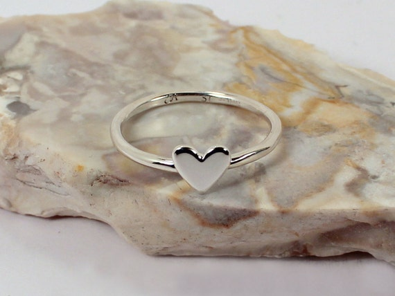 Heart Stacking Ring, Sterling Silver, Made to Order