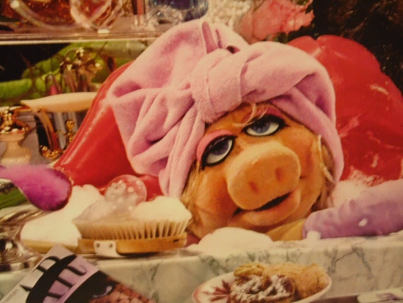 Vintage Miss Piggy Photograph Fantasy Calendar Bathroom Decor Wall Hanging
