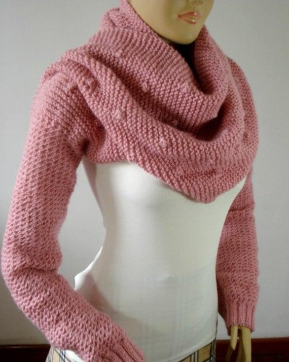 Pashmina Cowl Knitting Pattern : SCARF with Sleeves KNITTING PATTERN Shawl Cowl by LiliaCraftParty