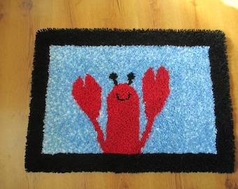 Pete The Lobster Hooked Rug