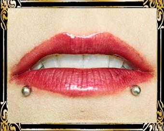 COUNTESS Lip Gloss: 10 mL Tube, Wine Red Glitter Lip Glaze, Dark Ruby Shimmer Lip Color, Vanilla Flavor, Ships Out in 6-9 Days