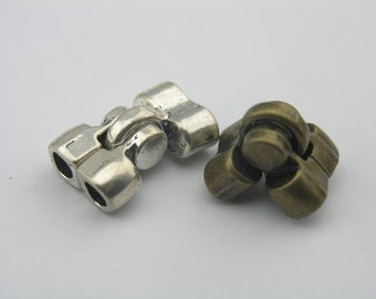 2  Colors Available--3/10 Sets 5.0mm Double/Two Holes Magnetic Clasp For Bracelet Project