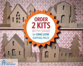 DimeStore Village Glitter House Patterns... LOW SHIPPING, buy 2 kits with sand for one ship price!!
