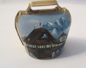 Vintage Luzern Hand Painted Cow Bell Souvenir