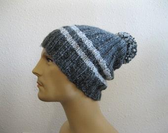 Knit Beanie - Slouchy Beanie - Mens Hat - Womens Hat - Knitted Slouchy Beanie - Winter Hats - Beanies - Knit Beanie Hat - Slouchy Beanie Hat
