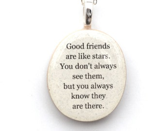 Best friend necklace friendship necklace unique necklace gift for women going away gift gift for her personalized jewelry graduation gift