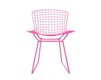 BERTOIA - Neon Pink - KNOLL Side Chair Restoration by Cast + Crew
