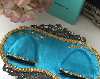 SALE! Satin Breakfast at Tiffanys Inspired Sleep Mask and a FREE GIFT!