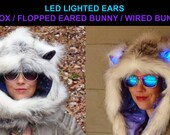 Arctic Galaxy Wolf / Fox / Bunny Scoodie - You choose which animal style with or without Glow Ears!!