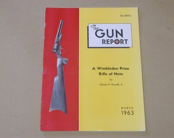 Vintage 1963 The Gun Report Magazine