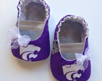 Kansas State Baby Mary Jane Shoes