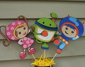 Cardstock figures, party decoration