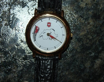 Swiss Army Red Cross Animated Moving Train Watch, works
