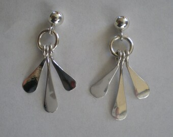 Handmade Sterling Silver Post Earrings
