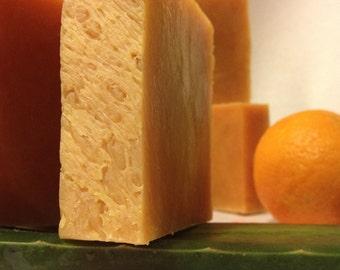 Organic Goat Milk Soap, Mandarin Lemongrass Aloe, Organic Soap, Citrus Goat Milk Soap, Cold-Process, Moisturizing Soap
