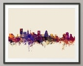 Baltimore Skyline, Baltimore Maryland Cityscape Art Print (1623)