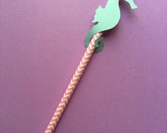 Sea Horse-Under the Sea- Paper Straws