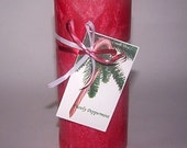 Red Peppermint Scented Candle