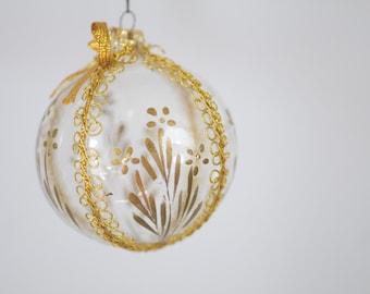Vintage Christmas Ornament Columbia Glass Christmas Ornament