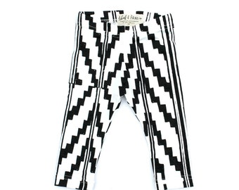 Southwest Leggings in Black on White