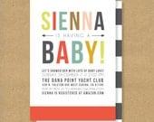 BOLD & COLORFUL Baby Shower Invitation - Printable - Gender Neutral Invite