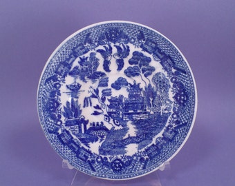 Saucer, Vintage, Flo Blue, Willow, Made in Japan