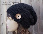 Crochet Hat - Slouchy  Hat, Crochet Pattern PDF,Easy, Pattern No. 74