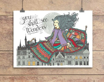 You Shall See Wonders - William Shakespeare Quotation Greeting Card